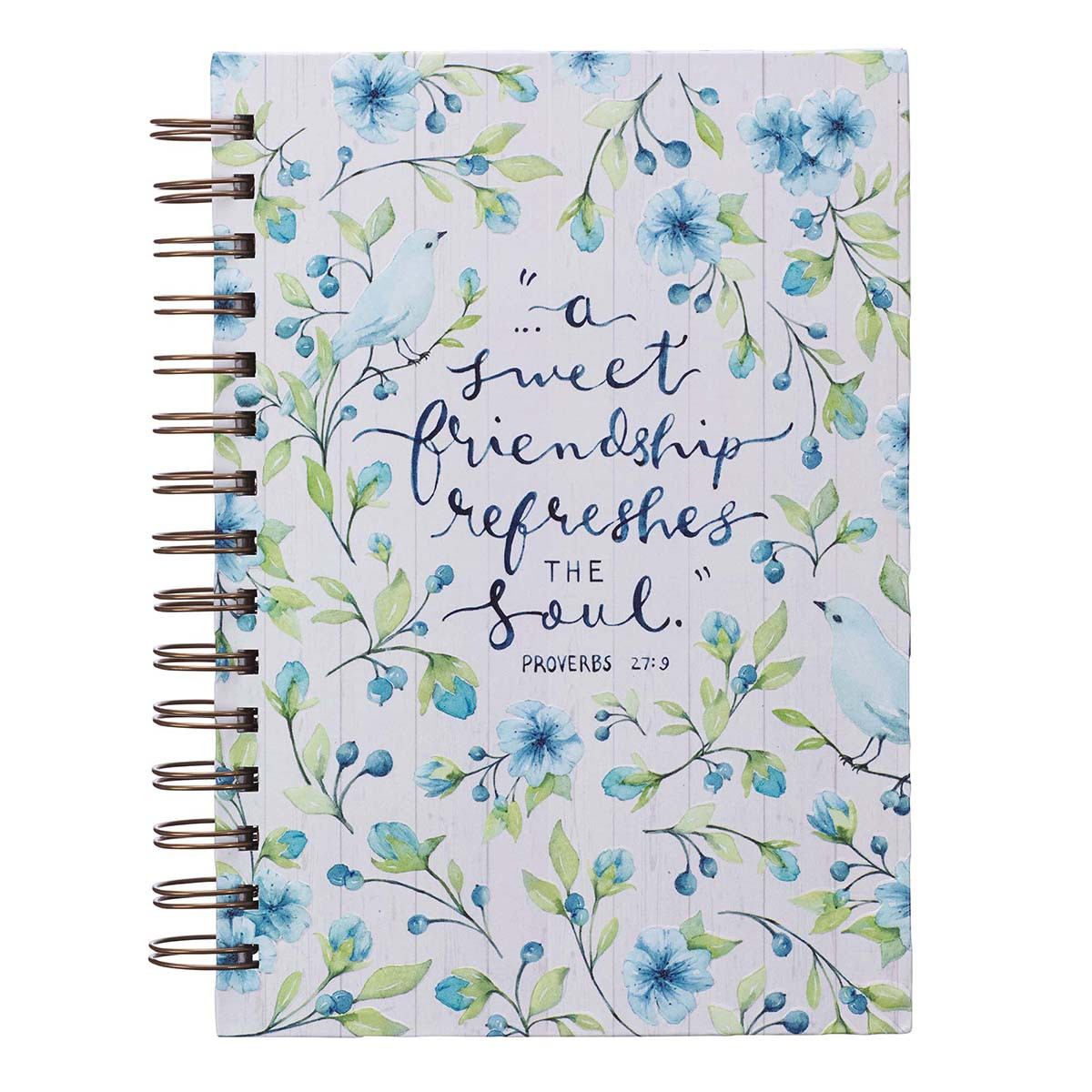 A Sweet Friendship Refreshes The Soul (Large Wirebound Journal)