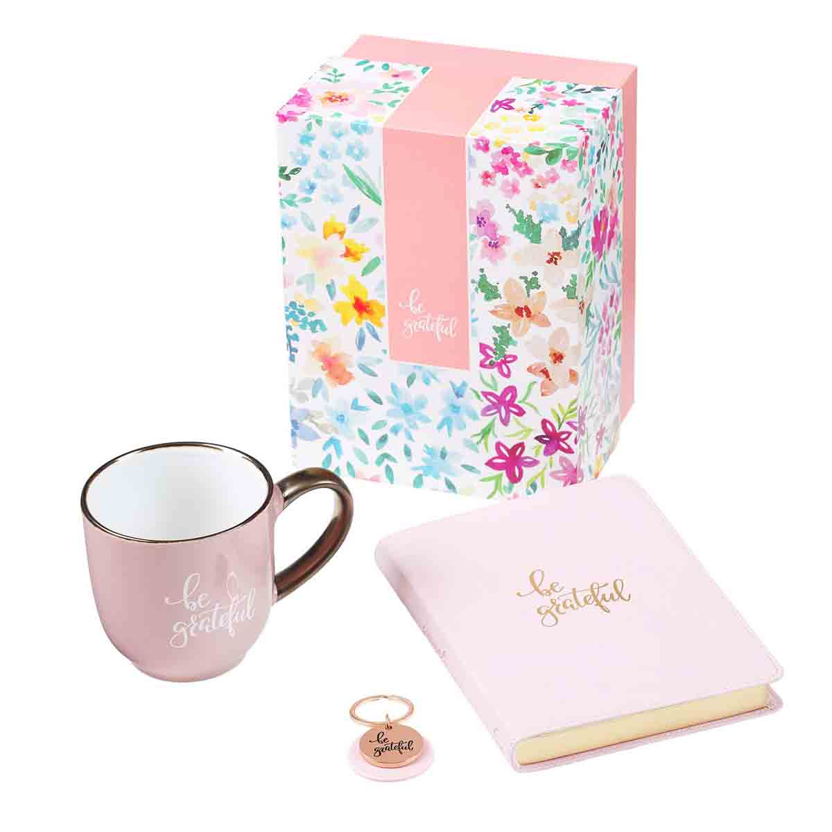 Be Grateful Women Gift Set (Journal / Mug / Keyring Boxed Set)