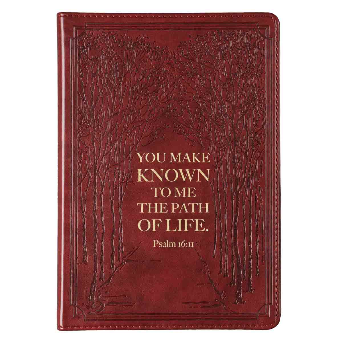 You Make Known To Me The Path Of Life Brown (Slimline LuxLeather Journal)