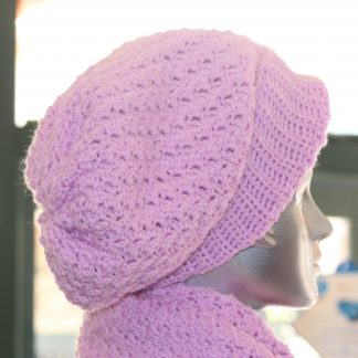 Lailac Hat & Scarf Angle