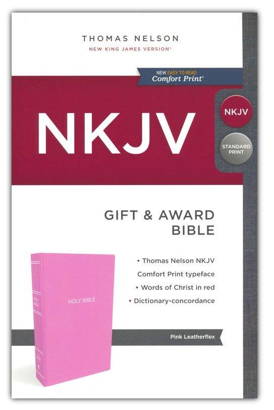 NKJV Gift & Award Comfort Print Pink Package