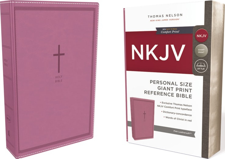 NKJV Personal Size Giant Print Reference Comfort Print Pink